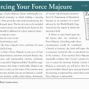 force majeure definition contract